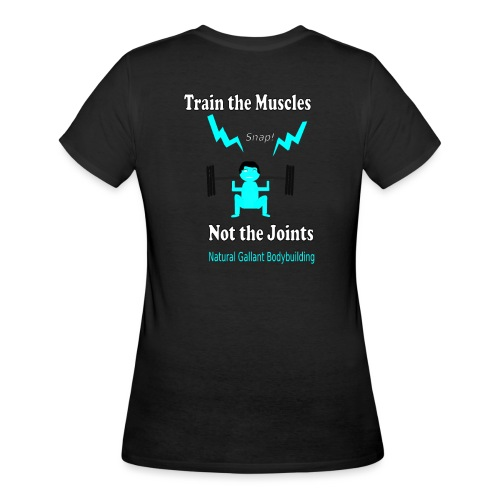 Train the Muscles, Not the Joints Zip Up Hoodie.  - Women's 50/50 T-Shirt