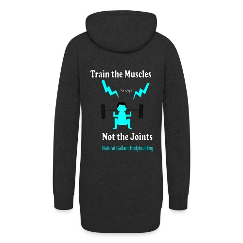Train the Muscles, Not the Joints Zip Up Hoodie.  - Women's Hoodie Dress