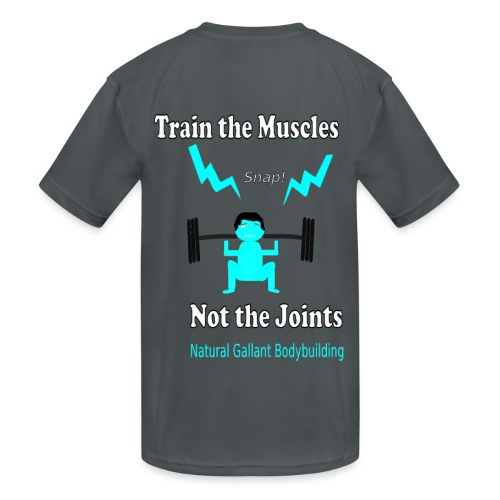 Train the Muscles, Not the Joints Zip Up Hoodie.  - Kids' Moisture Wicking Performance T-Shirt