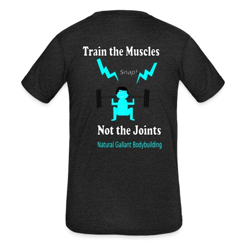 Train the Muscles, Not the Joints Zip Up Hoodie.  - Kids' Tri-Blend T-Shirt