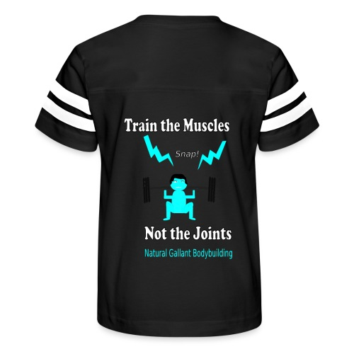 Train the Muscles, Not the Joints Zip Up Hoodie.  - Kid's Vintage Sport T-Shirt