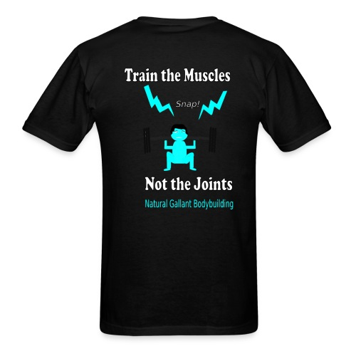 Train the Muscles, Not the Joints Zip Up Hoodie.  - Men's T-Shirt