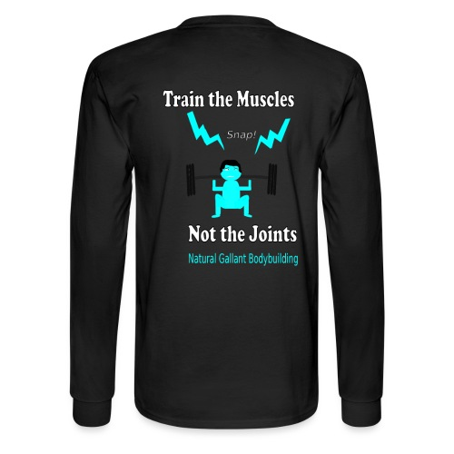 Train the Muscles, Not the Joints Zip Up Hoodie.  - Men's Long Sleeve T-Shirt
