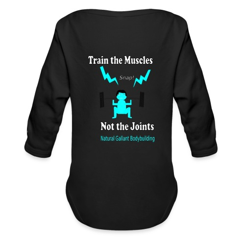 Train the Muscles, Not the Joints Zip Up Hoodie.  - Organic Long Sleeve Baby Bodysuit