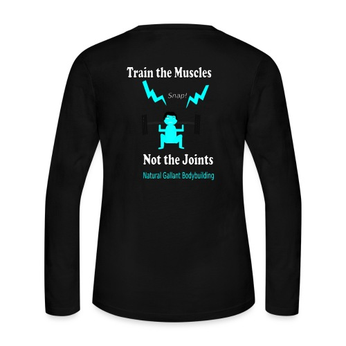 Train the Muscles, Not the Joints Zip Up Hoodie.  - Women's Long Sleeve Jersey T-Shirt