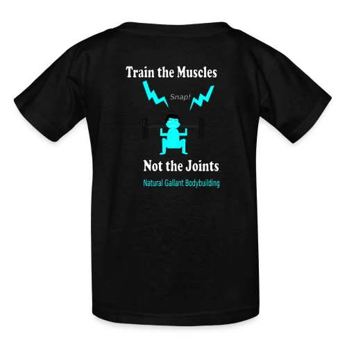 Train the Muscles, Not the Joints Zip Up Hoodie.  - Kids' T-Shirt