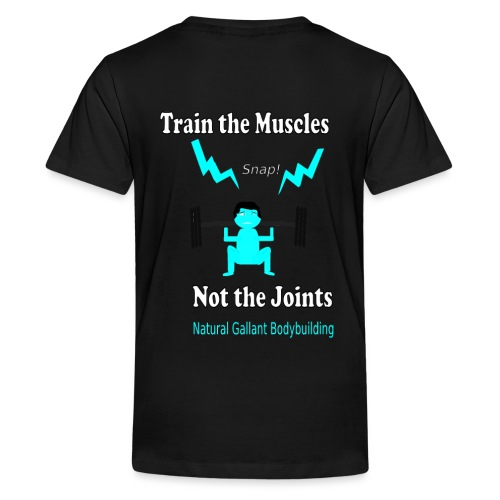 Train the Muscles, Not the Joints Zip Up Hoodie.  - Kids' Premium T-Shirt