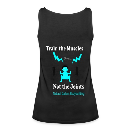 Train the Muscles, Not the Joints Zip Up Hoodie.  - Women's Premium Tank Top