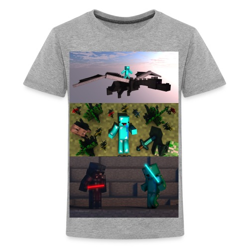 BryceTheDerp Shirt 3x Pictures V1 - Kids' Premium T-Shirt