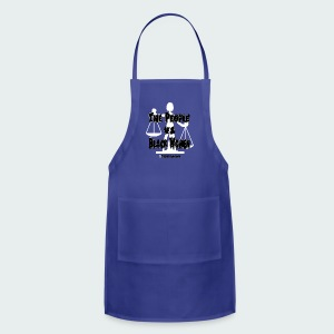 Up to 5XL-The People White - Adjustable Apron