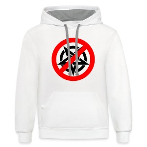 Say no to Evil One - Contrast Hoodie