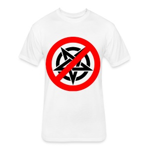 Say no to Evil One - Fitted Cotton/Poly T-Shirt by Next Level