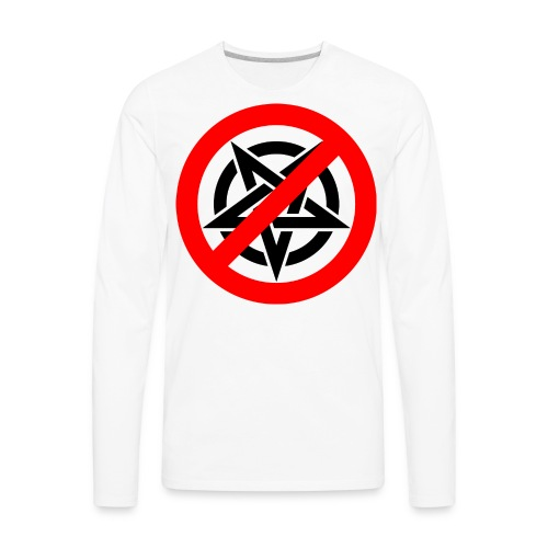 Say no to Evil One - Men's Premium Long Sleeve T-Shirt