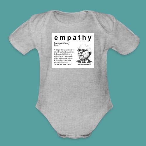 Bernie Sanders Empath Extraordinaire #1 - Organic Short Sleeve Baby Bodysuit
