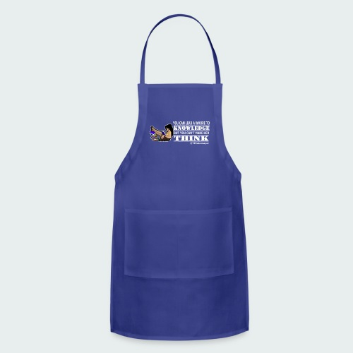 Up to 5XL- Lead To Knowledge White - Adjustable Apron