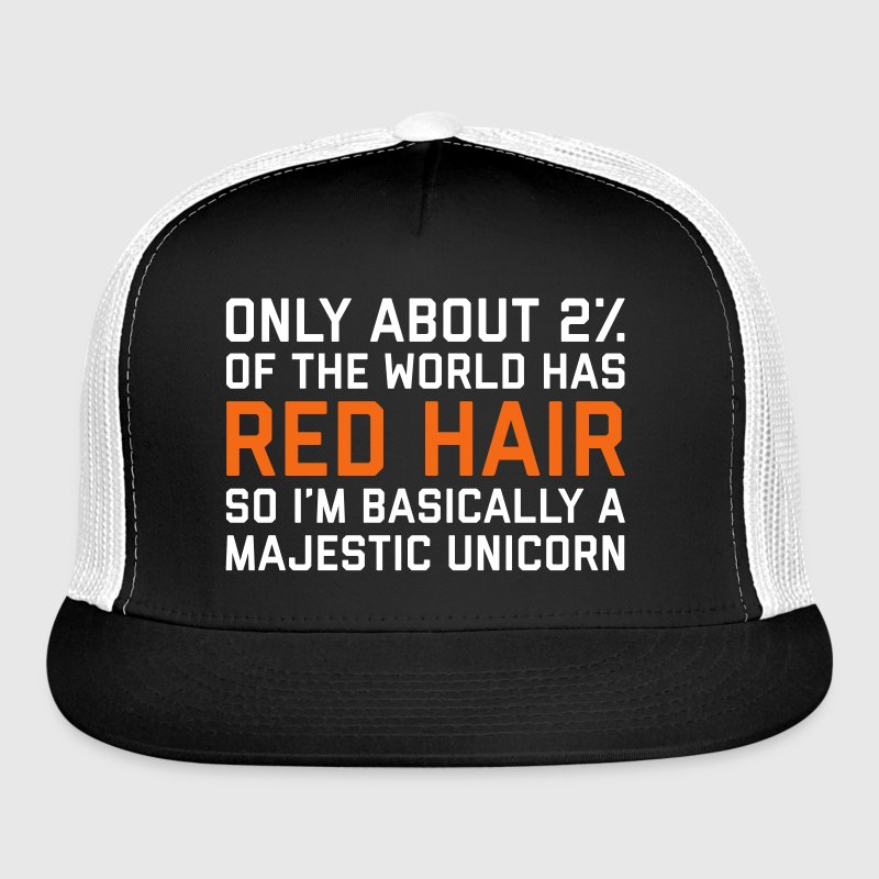 Red Hair Funny Quote Sportswear - Trucker Cap