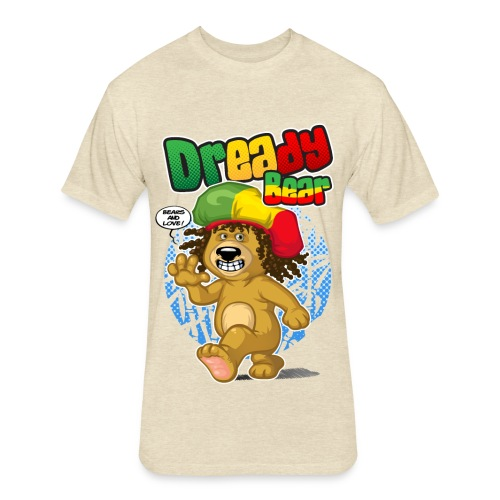 Dready Bear - Fitted Cotton/Poly T-Shirt by Next Level