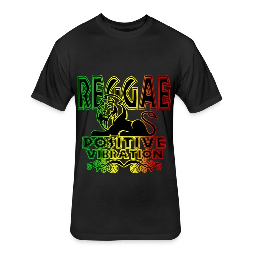 Positive Vibration - Fitted Cotton/Poly T-Shirt by Next Level