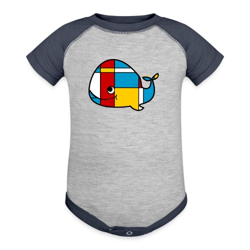 Mondrian Whale Kids T-Shirt - Baby Contrast One Piece