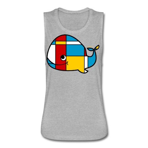 Mondrian Whale Kids T-Shirt - Women's Flowy Muscle Tank by Bella