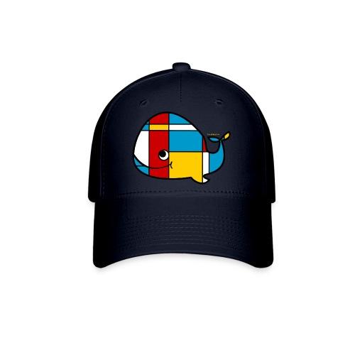 Mondrian Whale Kids T-Shirt - Baseball Cap