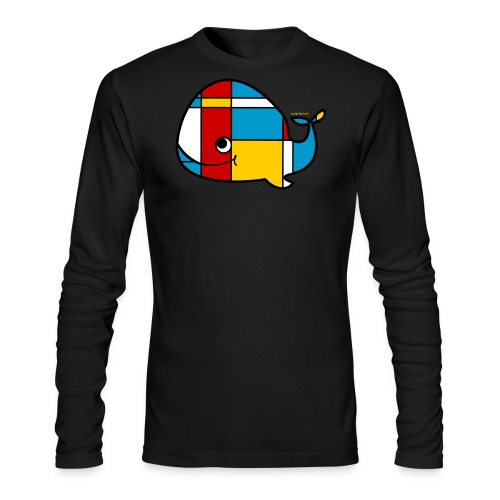 Mondrian Whale Kids T-Shirt - Men's Long Sleeve T-Shirt by Next Level