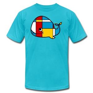 Mondrian Whale Kids T-Shirt - Men's Fine Jersey T-Shirt