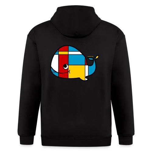 Mondrian Whale Kids T-Shirt - Men's Zip Hoodie