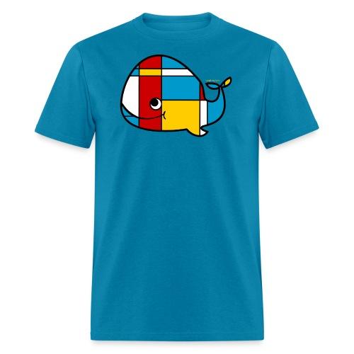 Mondrian Whale Kids T-Shirt - Men's T-Shirt