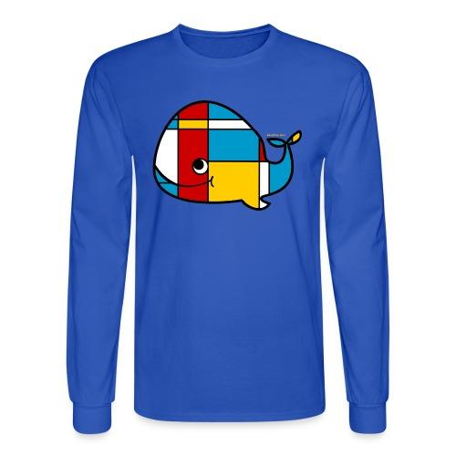 Mondrian Whale Kids T-Shirt - Men's Long Sleeve T-Shirt