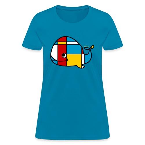 Mondrian Whale Kids T-Shirt - Women's T-Shirt