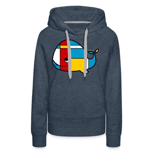 Mondrian Whale Kids T-Shirt - Women's Premium Hoodie