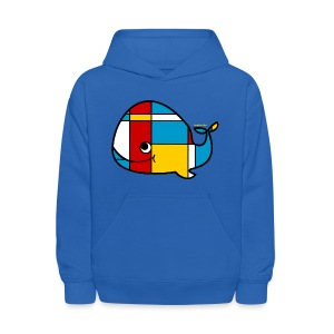 Mondrian Whale Kids T-Shirt - Kids' Hoodie
