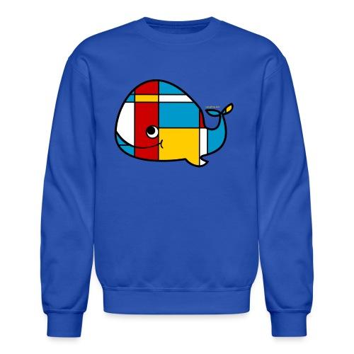 Mondrian Whale Kids T-Shirt - Crewneck Sweatshirt