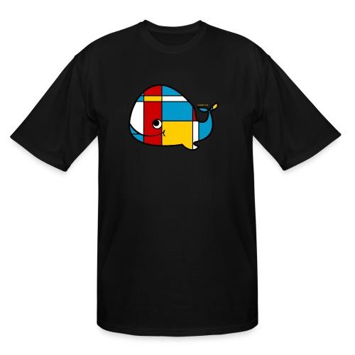 Mondrian Whale Kids T-Shirt - Men's Tall T-Shirt