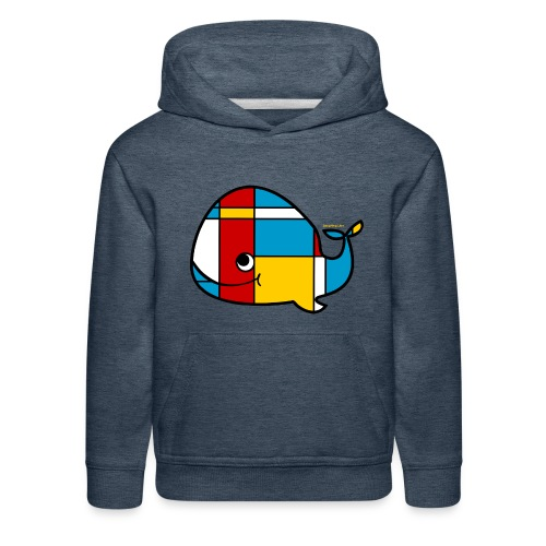 Mondrian Whale Kids T-Shirt - Kids' Premium Hoodie