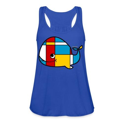 Mondrian Whale Kids T-Shirt - Women's Flowy Tank Top by Bella