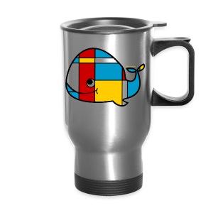 Mondrian Whale Kids T-Shirt - Travel Mug