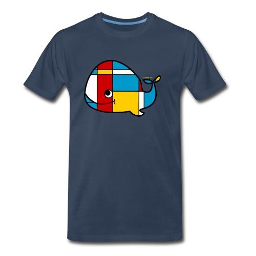 Mondrian Whale Kids T-Shirt - Men's Premium T-Shirt