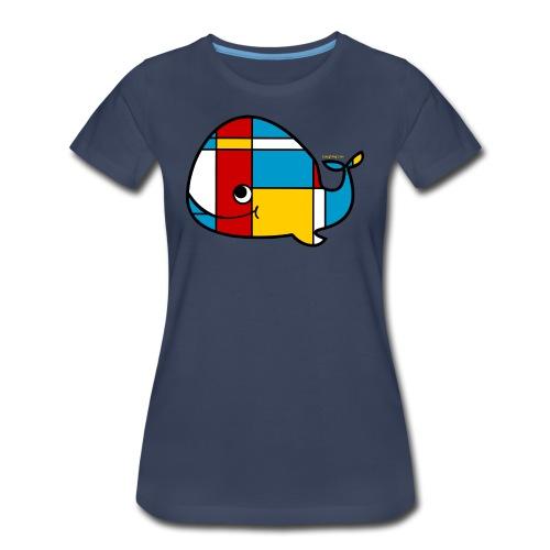 Mondrian Whale Kids T-Shirt - Women's Premium T-Shirt