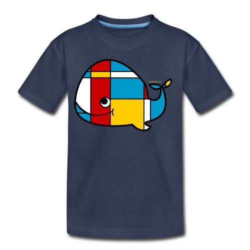 Mondrian Whale Kids T-Shirt - Toddler Premium T-Shirt