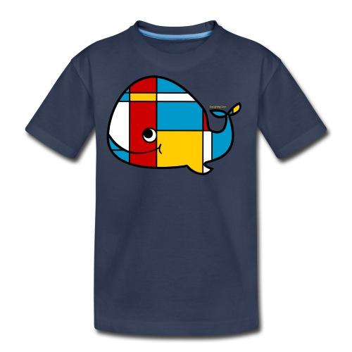 Mondrian Whale Kids T-Shirt - Kids' Premium T-Shirt