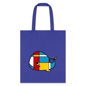 Mondrian Whale Kids T-Shirt - Tote Bag