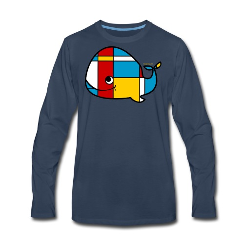 Mondrian Whale Kids T-Shirt - Men's Premium Long Sleeve T-Shirt