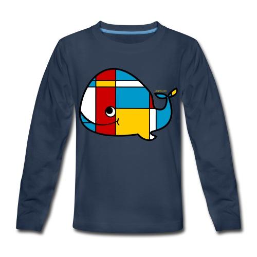 Mondrian Whale Kids T-Shirt - Kids' Premium Long Sleeve T-Shirt