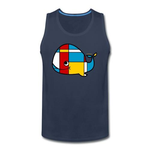 Mondrian Whale Kids T-Shirt - Men's Premium Tank
