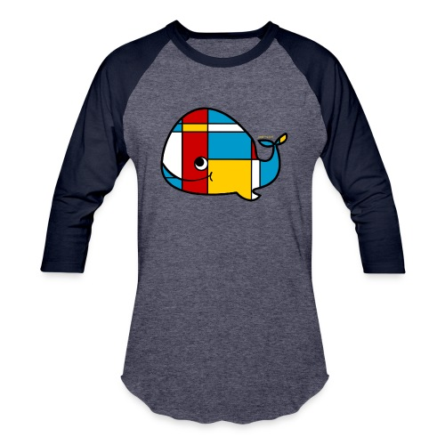 Mondrian Whale Kids T-Shirt - Baseball T-Shirt