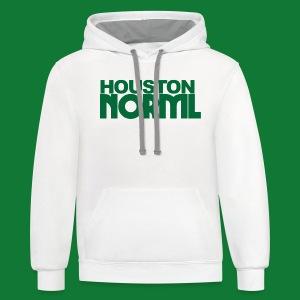 Women's Cotton Tee Houston NORML Green Logo - Contrast Hoodie