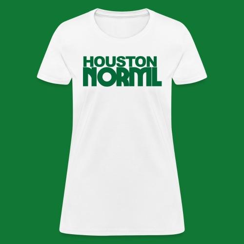 Women's Cotton Tee Houston NORML Green Logo - Women's T-Shirt