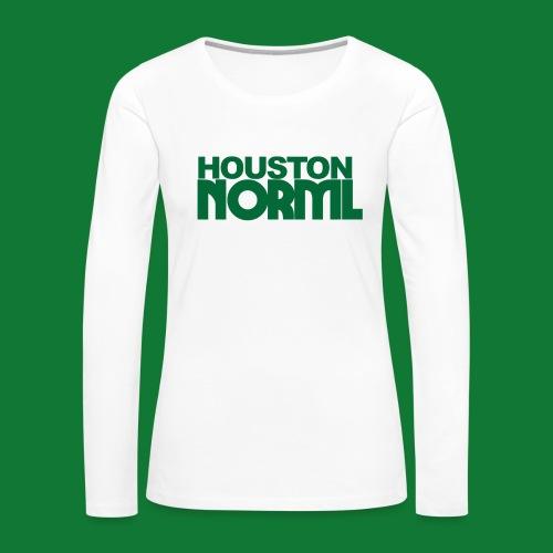Women's Cotton Tee Houston NORML Green Logo - Women's Premium Long Sleeve T-Shirt
